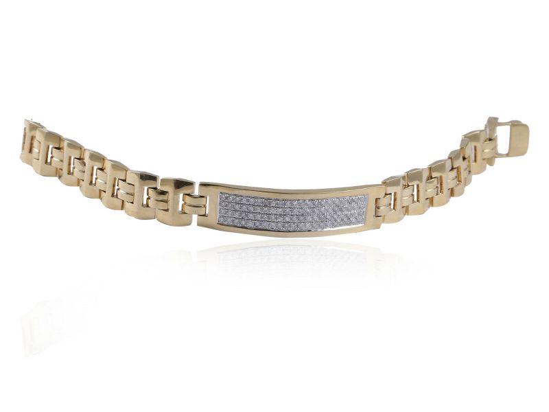 97fc0246dd23b Pave 1.92 Carats Round Brilliant Cut Natural Diamonds Men's Bracelet ...