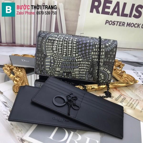 Túi xách Dior Wallet On Chain siêu cấp da cừu màu 4 size 22 cm
