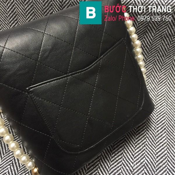 Túi đeo chéo Chanel siêu cấp da cừu màu đen size 19cm - AS2503