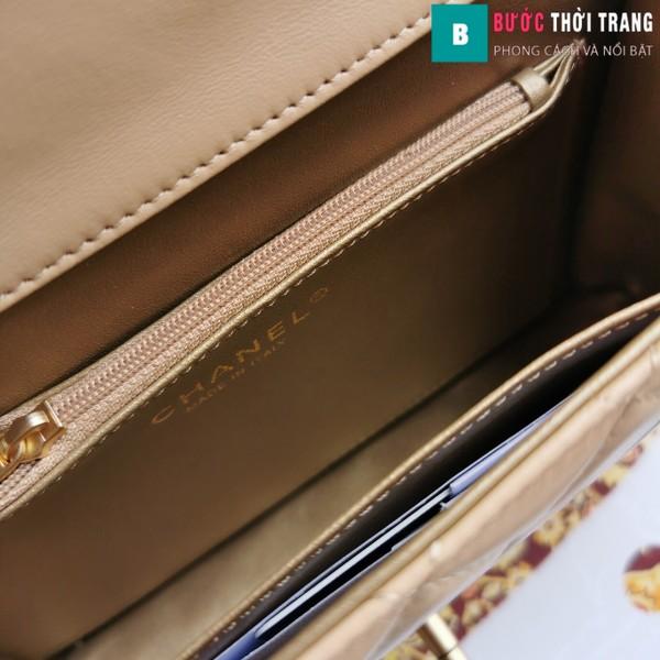Túi xách Chanel Pearl chanin bag siêu cấp  màu da size 21 cm - S0585