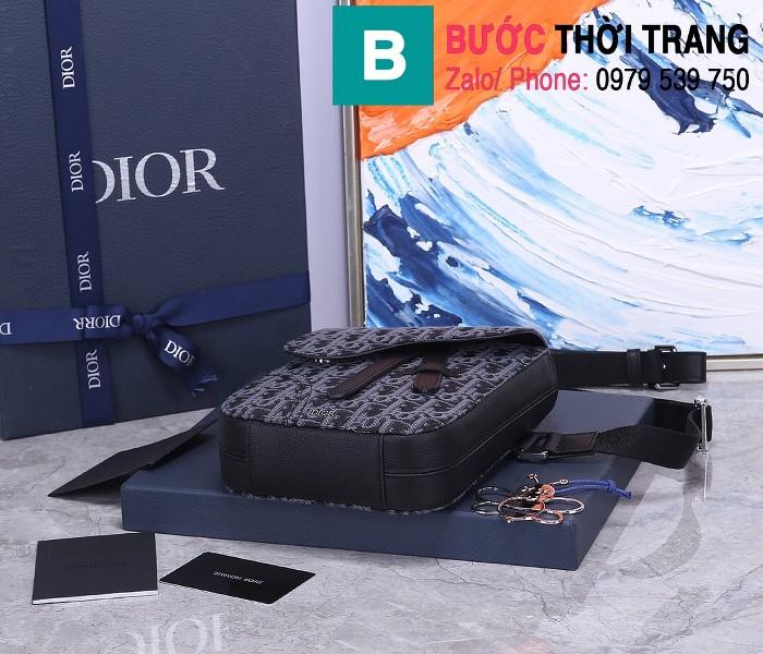 Túi đeo chéo Dior Oblique Bag siêu cấp vải casvan màu 3 size 16cm - CD93306