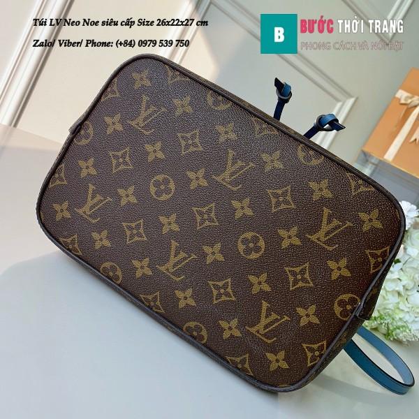 Túi xách LV Louis Vuitton Neo Noe siêu cấp dây màu xanh size 26cm - M43569
