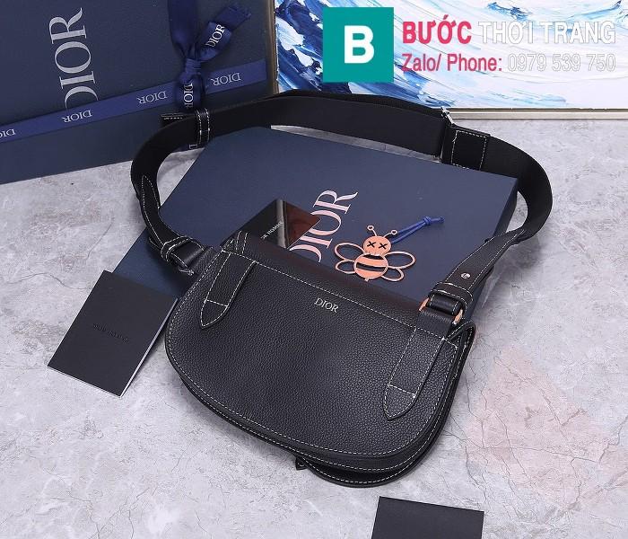 Túi xách Dior Saddle Bag {túi yên ngựa} siêu cấp da bê màu đen 1 size 24 cm