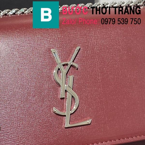 Túi xách YSL Saint Laurernt Sunset siêu cấp da bê màu đỏ đô size 22cm - 442906