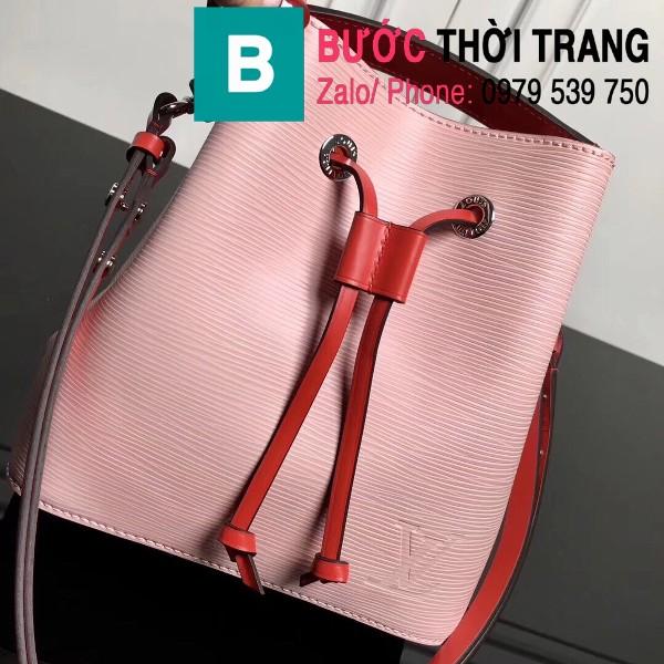 Túi xách LV Louis Vuitton NéoNoé BB Bag siêu cấp da sần màu hồng size 20cm - M52853