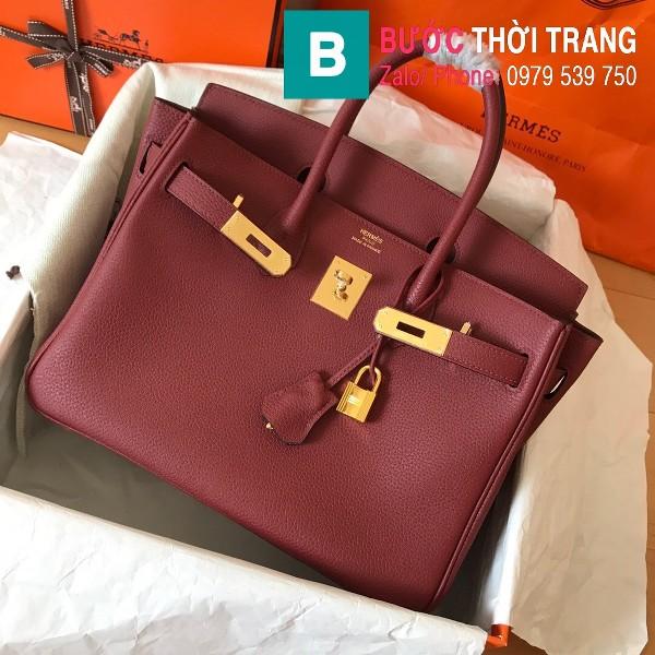 Túi xách Hermes Birkin siêu cấp da Togo màu đỏ đô size 30cm