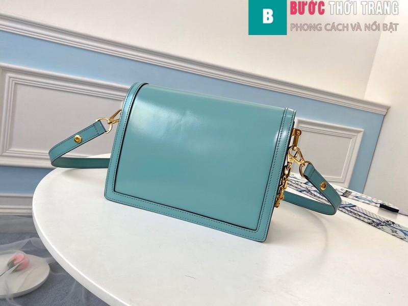 Túi xách LV Louis Vuitton Dauphine MM siêu cấp màu xanh size 25cm - M55837