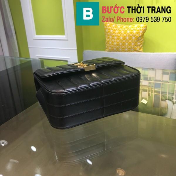 Túi xách YSL Saint Laurent Vicky bag siêu cấp da cừu non màu đen size 20.5cm - 532612