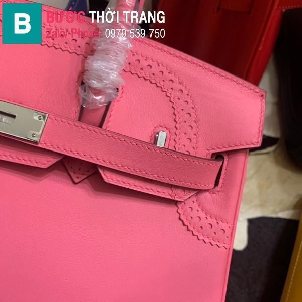 Túi xách Hermes Birkin siêu cấp da Togo màu hồng size 30cm