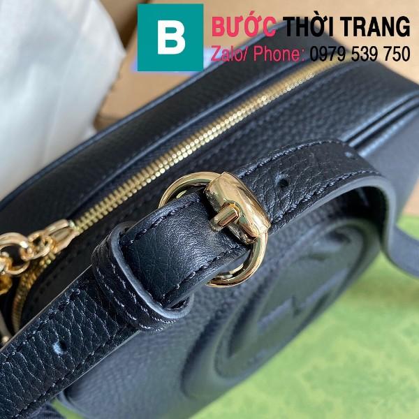 Túi xách Gucci Soho Small Leather Disco bag siêu cấp da bê màu đen size 22cm - 308364