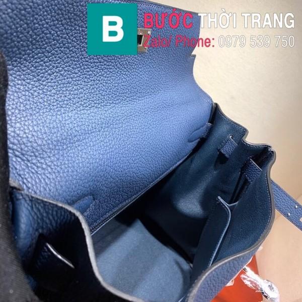 Túi xách Hermes Kelly siêu cấp da togo màu xanh biển size 28cm