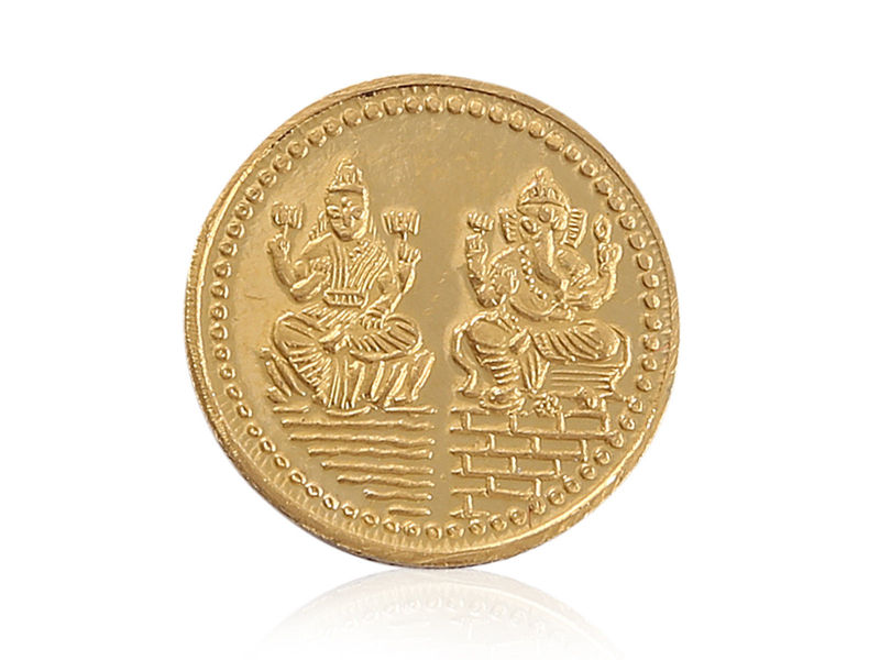 Stunning Ganesha Pure Gold Coin In 995 Solid Stamped 24Karat Fine Yellow Gold