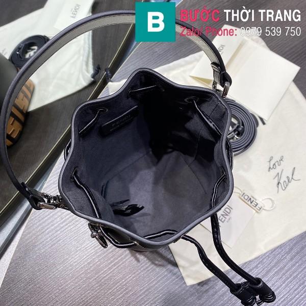 Túi xách Fendi Mon Tresor siêu cấp da bê màu đen vàng size 12cm
