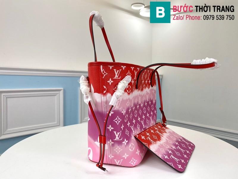 Túi xách Louis Vuitton Escale Neverfull MM siêu cấp màu đỏ size 31 cm - M45127