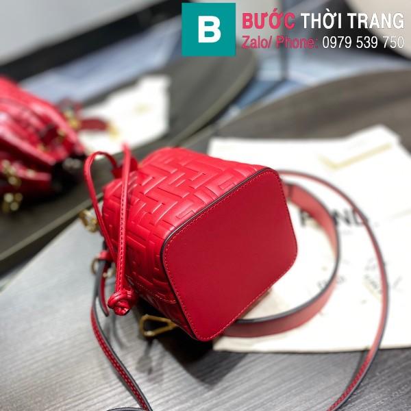 Túi xách Fendi Mon Tresor siêu cấp da bê màu đỏ size 12cm