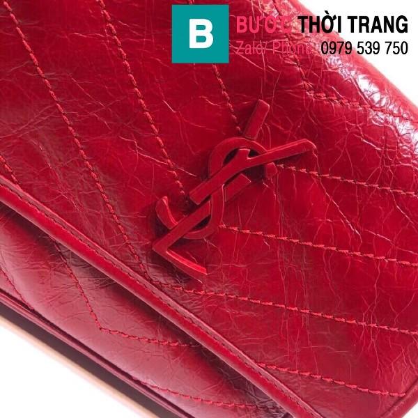 Túi xách YSL Niki siêu cấp da cừu nguyên bản màu đỏ size 22cm - 533037