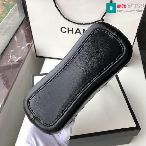 Túi xách Chanel Gabrielle small hobo bag siêu cấp màu trắng đen size 20cm - 91810