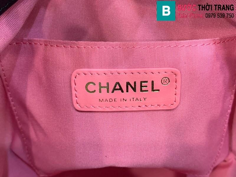 Túi xách Chanel Bag túi dây rút siêu cấp da cừu màu đen size 19cm AS2381