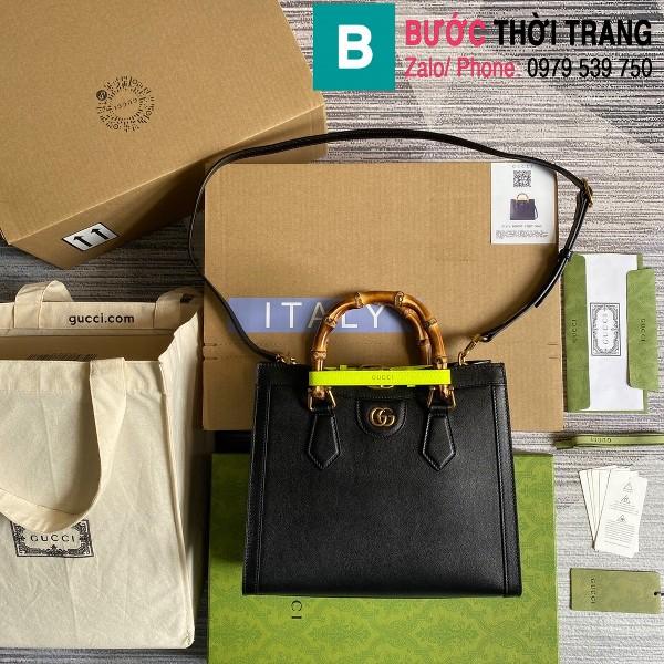 Túi xách Gucci Diana small tote bag siêu cấp da bê màu đen size 27cm - 660195