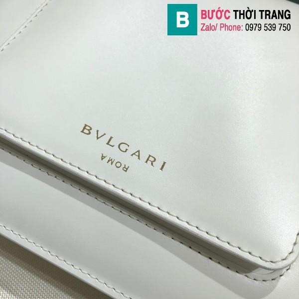 Túi xách Bvlgari Alexander Wang siêu cấp da bê màu trắng size 20 cm
