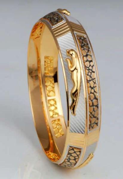 Solid 916 Stamped 22k Yellow Gold Handmade Dubai Men S Jaguar
