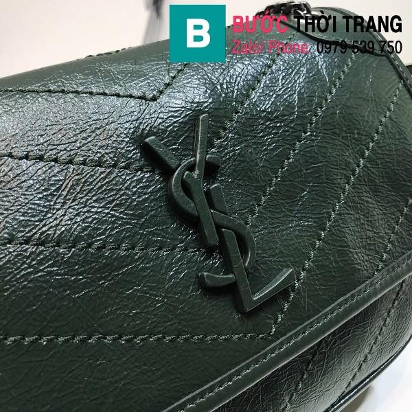 Túi xách YSL Niki siêu cấp da cừu nguyên bản màu cổ vịt size 22cm - 533037