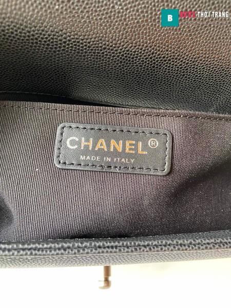 Túi xách Chanel boy siêu cấp màu đen size 25 cm - A67086
