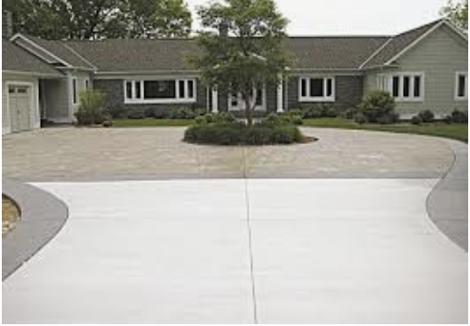 Residential Concrete Driveway Maple Valley Wisconsin