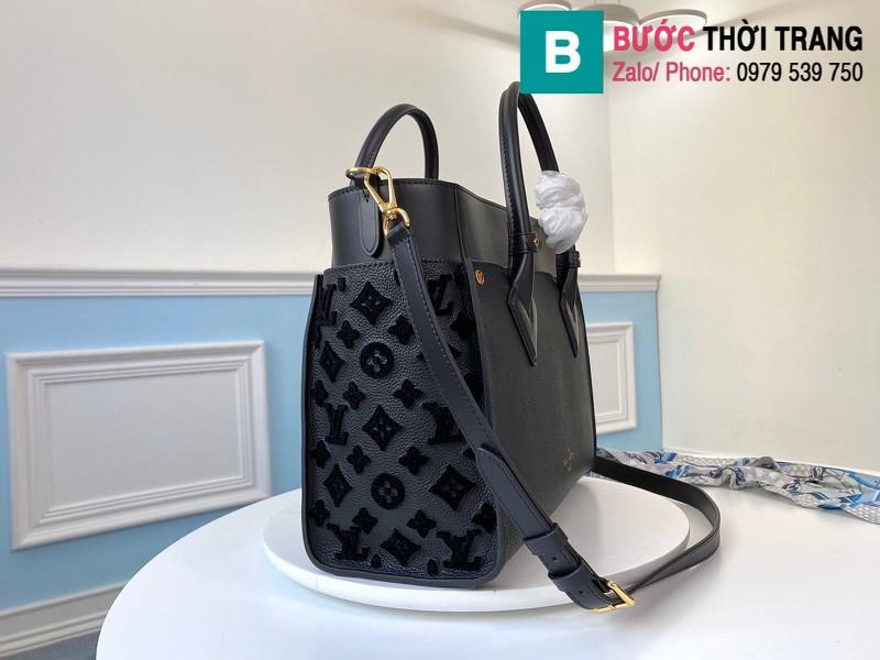 Túi xách Louis Vuitton On My Side siêu cấp da bê màu xanh đen size 30.5 cm - M53826