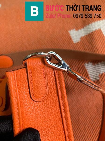 Túi xách Hermes Evelyne mini bag siêu cấp da togo màu cam size 17cm