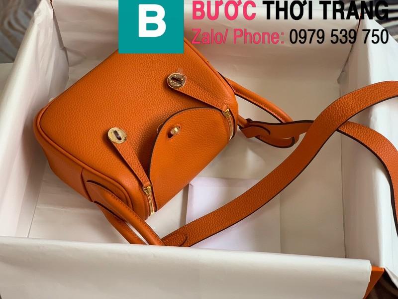 Túi xách Hermes Lindy siêu cấp da thật màu cam size 26cm