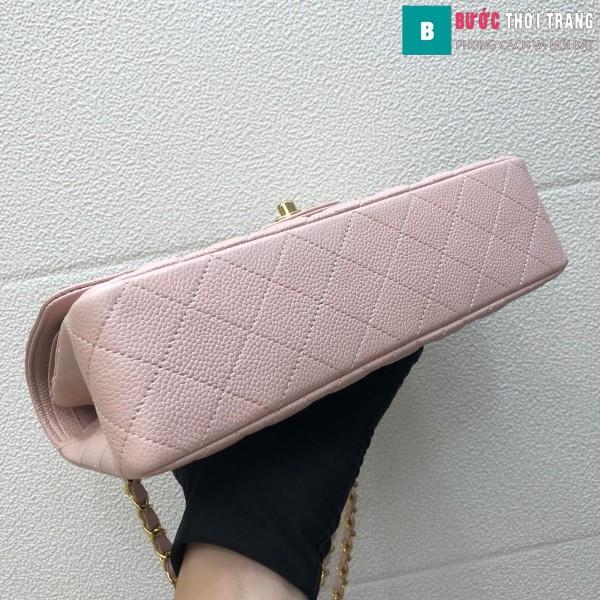 Túi xách Chanel Classic siêu cấp màu hồng size 25 cm - 1112