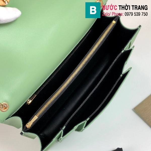 Túi xách Bvlgari Alexander Wang siêu cấp da bê màu xanh size 27.5 cm