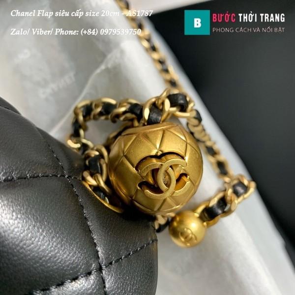 Túi Xách Chanel Flap Bag siêu cấp da cừu màu đen size 20cm - AS1787