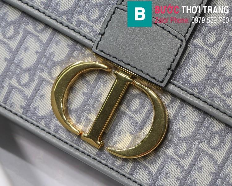 Túi xách Dior  30 Montaigne siêu cấp vải casvan màu xám size 24cm