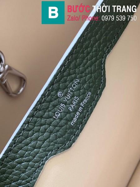 Túi xách LV Louis Vuitton Capucines Bag siêu cấp da bê màu rêu size 31cm - M92800