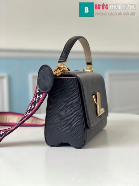 Túi xách Louis Vuitton Epi leather Twist Mini Handbags siêu cấp màu đen size 23 cm - M57063