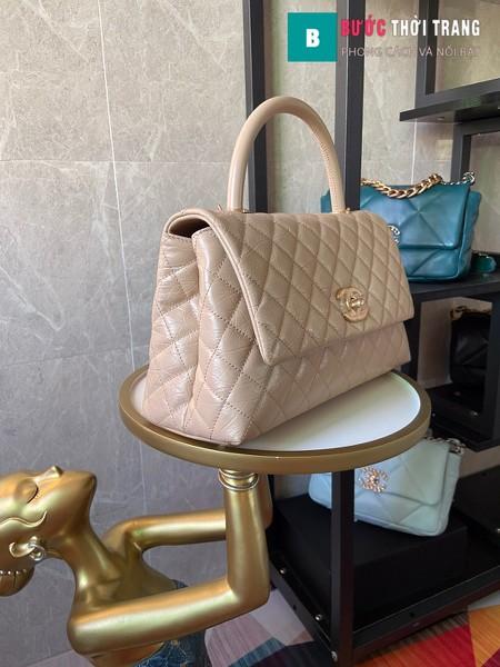 Túi xách Chanel Coco siêu cấp màu nude nhạt size 29 cm - A92992