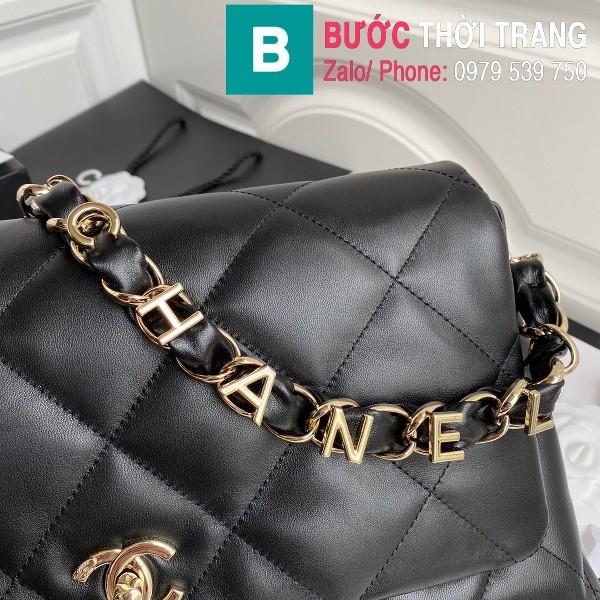 Túi xách Chanel Large Flap Bag siêu cấp da cừu màu đen size 31 cm - AS2316