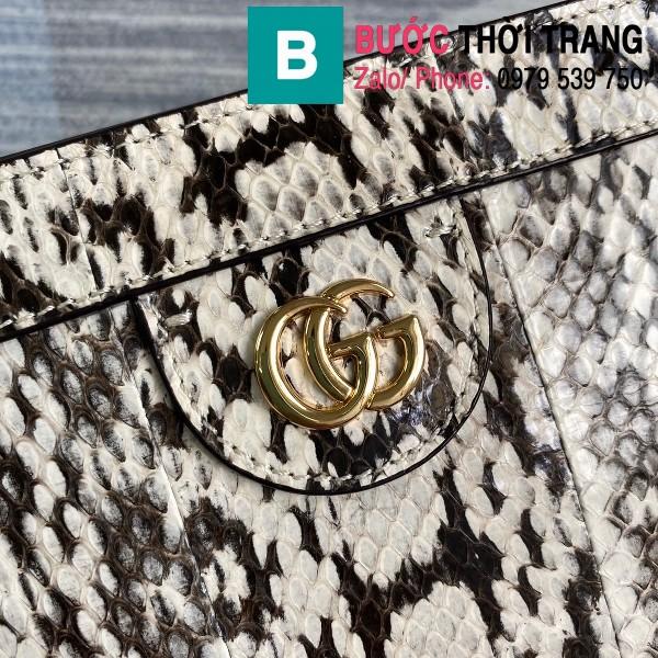 Túi xách Gucci Ophidia Small Shoulder siêu cấp da trăn màu trắng đen size 26cm - 503877