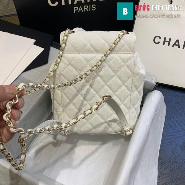 Túi xách Chanel duma backpack màu trắng size 21.5 cm - AS 1371