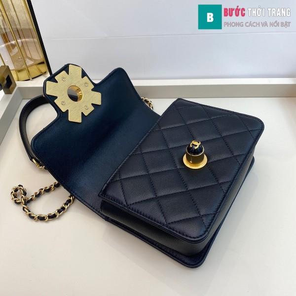 Túi xách Chanel Flap Bag siêu cấp màu trắng đen bê size 17.5 cm - AS1889
