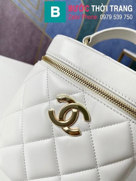 Túi xách Chanel Vantity Case siêu cấp da lambkin màu trắng size 24 cm - 1626