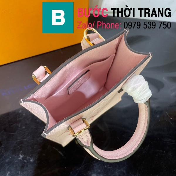 Túi xách LV Louis Vuitton Petit sac plat siêu cấp monogram màu hồng size 14cm - M80449