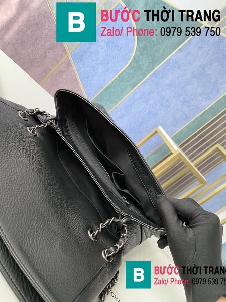Túi đeo chéo Chanel Bag siêu cấp da cừu màu đen size 32cm - 7095