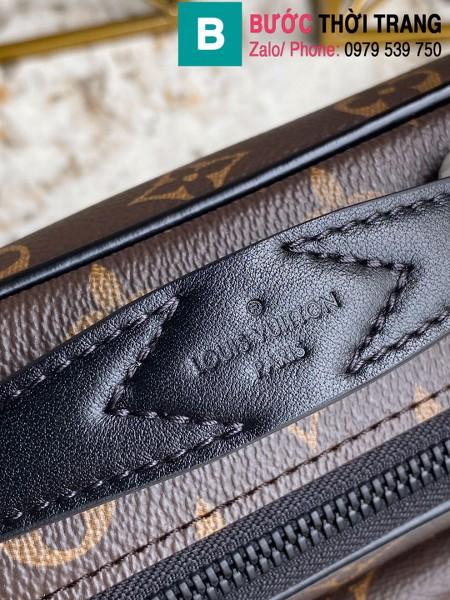 Túi xách Louis Vuitton S Lock messenger siêu cấp monogram viền đen size 22cm - M45806