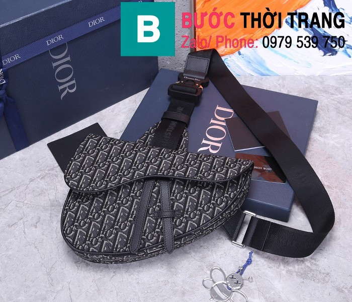 Túi xách Dior Saddle Bag siêu cấp chất liệu vải casvan màu 6 size 28.6cm