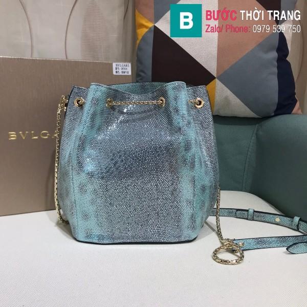Túi Bvlgari Serventi Forever Bucket bag siêu cấp da kakung màu 4 size 16cm - B287641