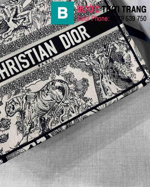 Túi xách Dior Book Tote siêu cấp chất liệu vải casvan màu 5 size 36.5cm - M1286