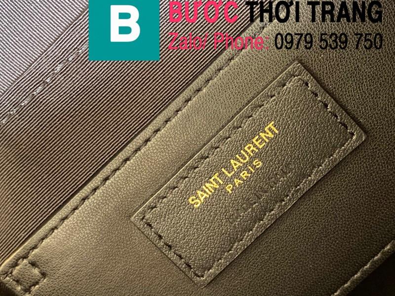 Túi xách YSL Saint Laurernt Vanity siêu cấp da bê màu trắng ngà size 14.5cm - 649779